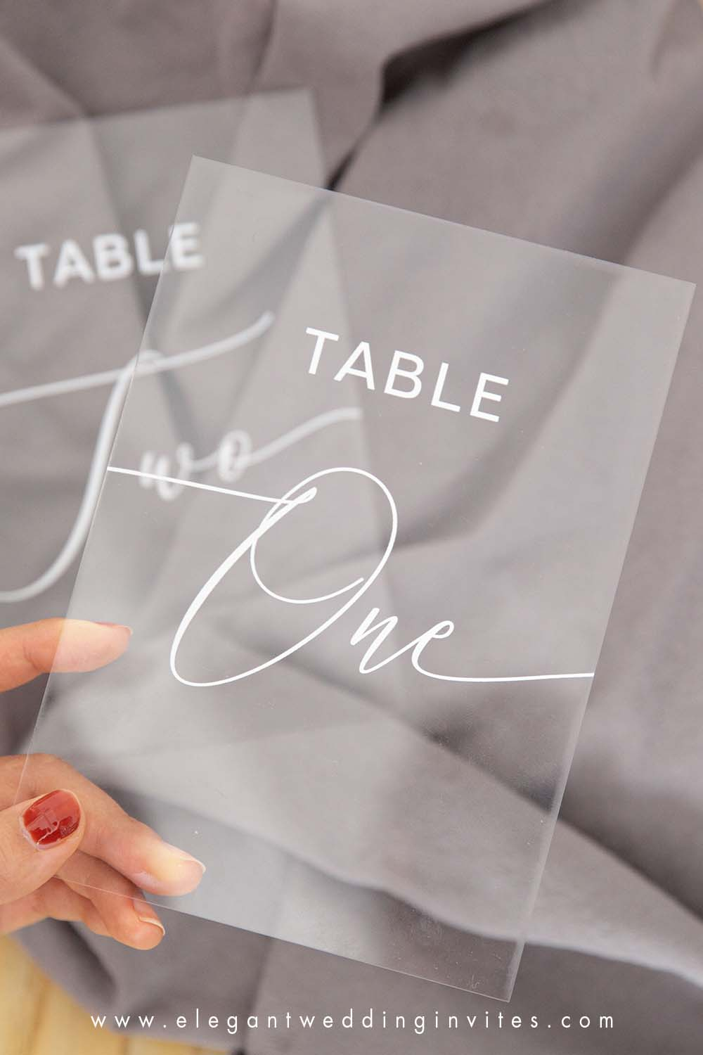wedding table numbers acrylic table numbers clear and chic calligraphy