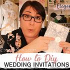 {Designer's Vlog} How to DIY your wedding invitations with special decoration or colours?