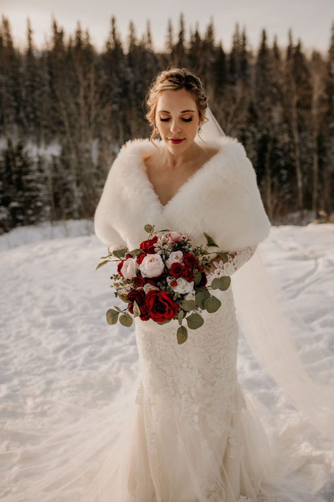 cabinet red and blush wedding bouquets for winter wedding
