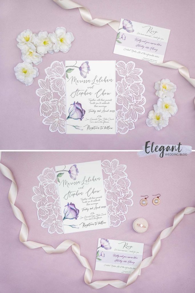 Romance meets elegance in this beautiful invitation suite that's fit for a queen.