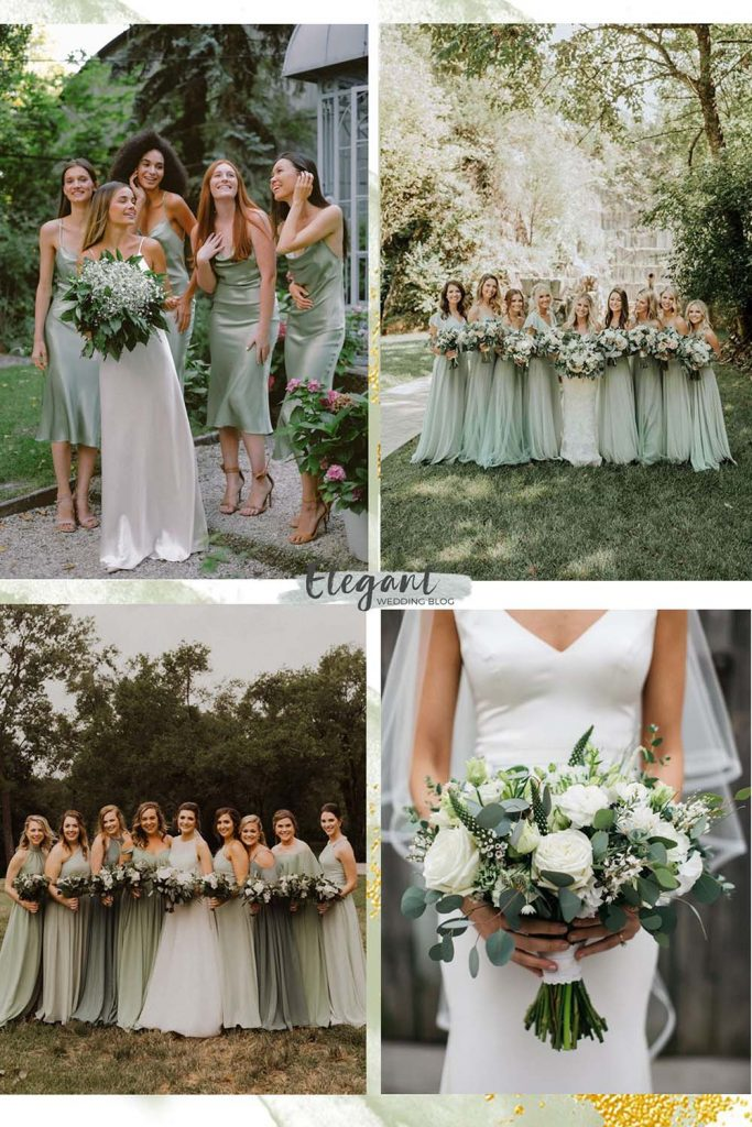 Sage Green is perfect for the combination of white flowers and green foliage 1