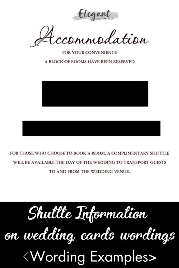 examples of shuttle information on wedding invitation wordings