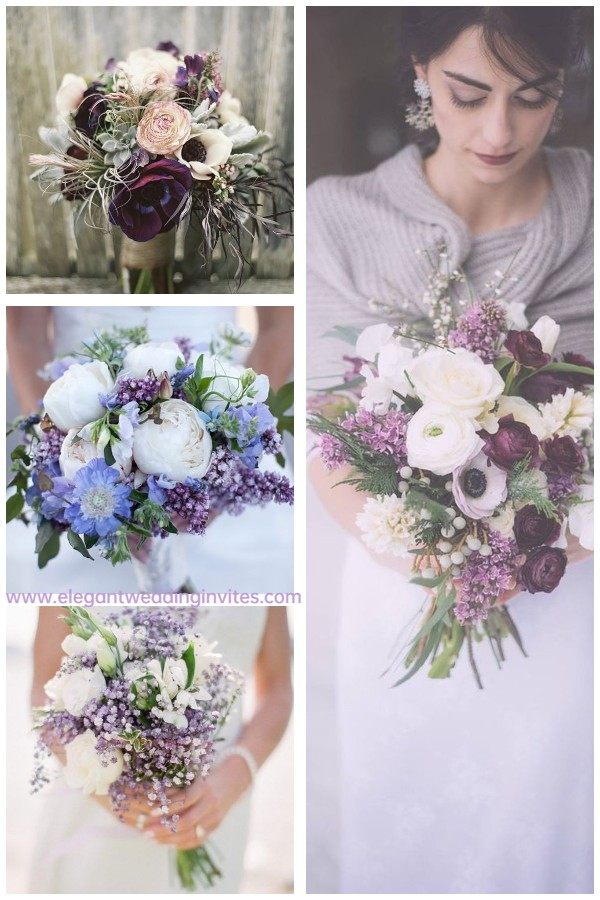 ultimate purple and lavender bouquet ideas for 2022 winter wedding