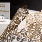 DIY wedding Invitation Trends with Glittery Element for Pizzazz Brides