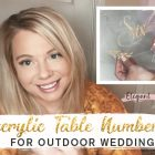 {Photographer's Review} Glitter Acrylic Table Numbers for Outdoor Wedding Ideas